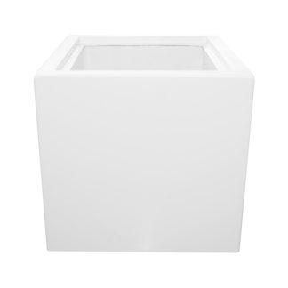 Bloempot 40x40x40 polyester Wit met isolatie